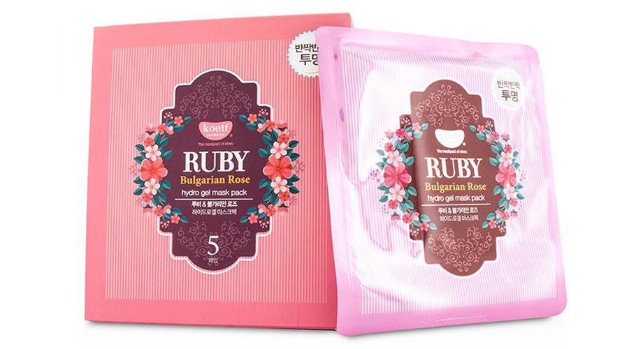 Ruby Bulgarian Rose hydro gel mask pack