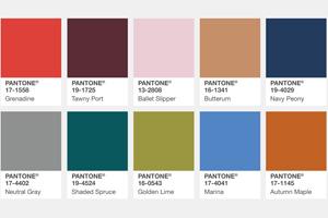 Pantone назвали 10 самых модных цветов этой осени