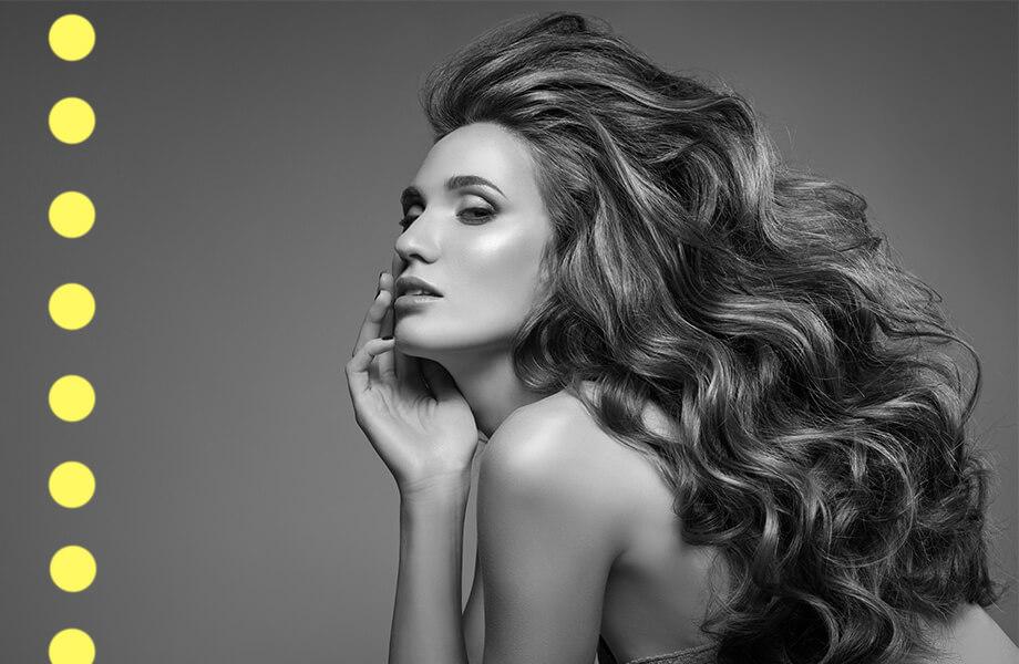 девушка с красивыми здоровыми волосами