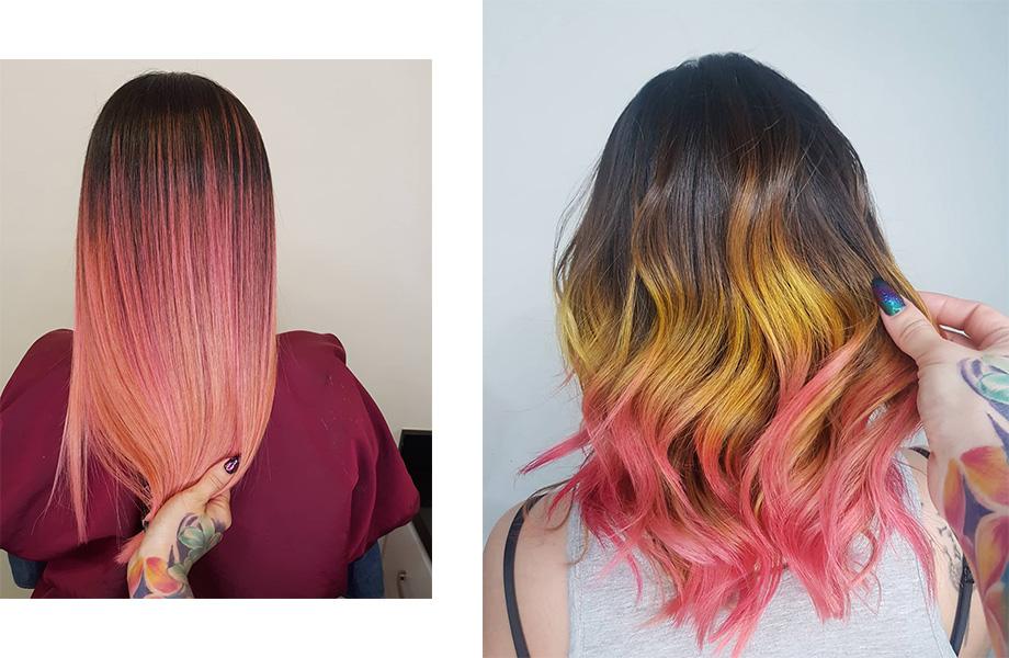 цвет волос Розовый лимонад