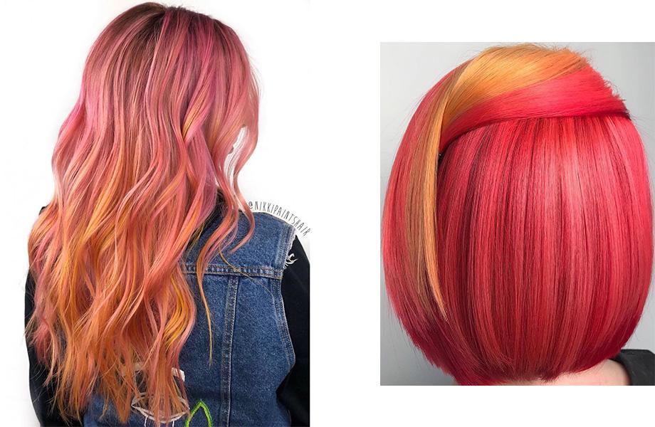 волосы Розовый лимонад