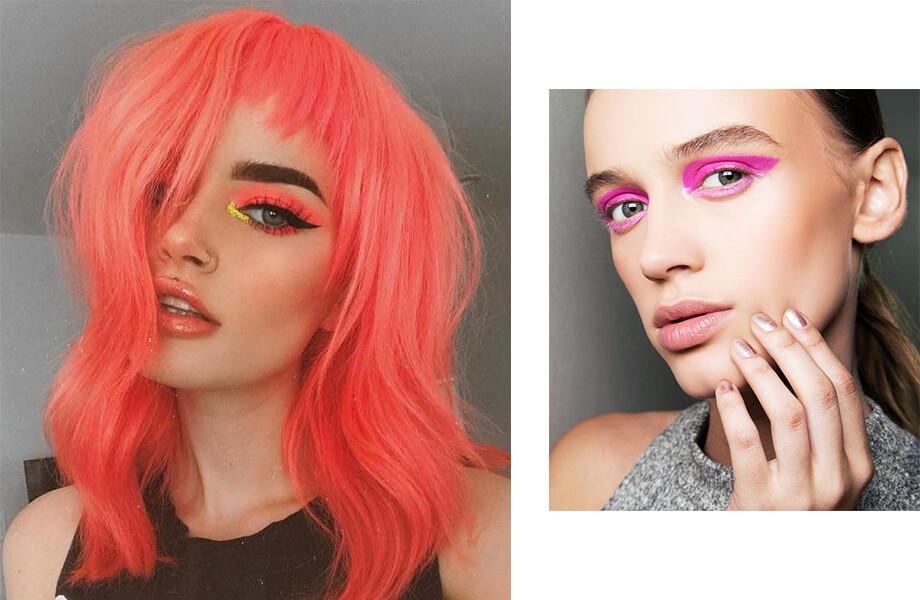 макияж неоновые оттенки