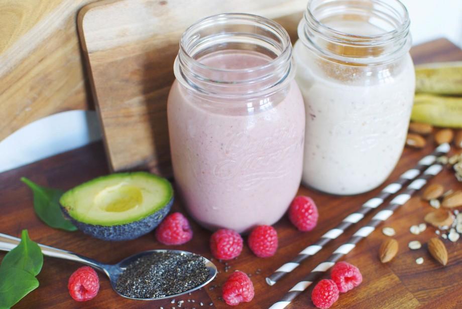 Смузи для похудения с малиной и авокадо