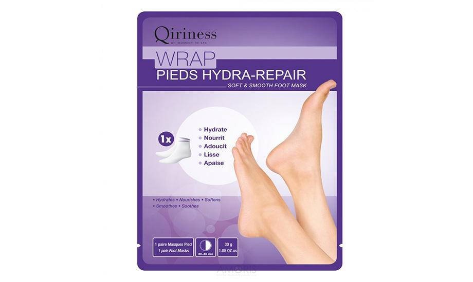 Qiriness, Wrap Pieds Hydra-Repair Soft&Smooth Foot Mask
