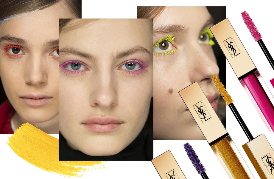 Тренды осеннего макияжа - яркие ресницы