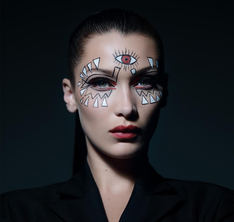 белла хадид и Dior Beauty представили макияж на хэллоуин Beauty Hub