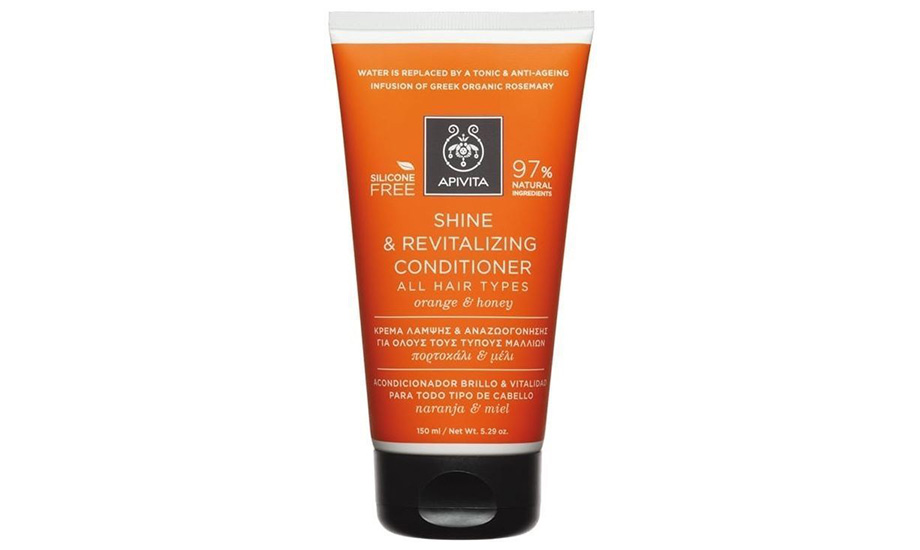 Apivita, Shine And Revitalizing Conditioner For All Hair Types With Orange & Honey объем 150 ml, ориентировочная цена 490 грн