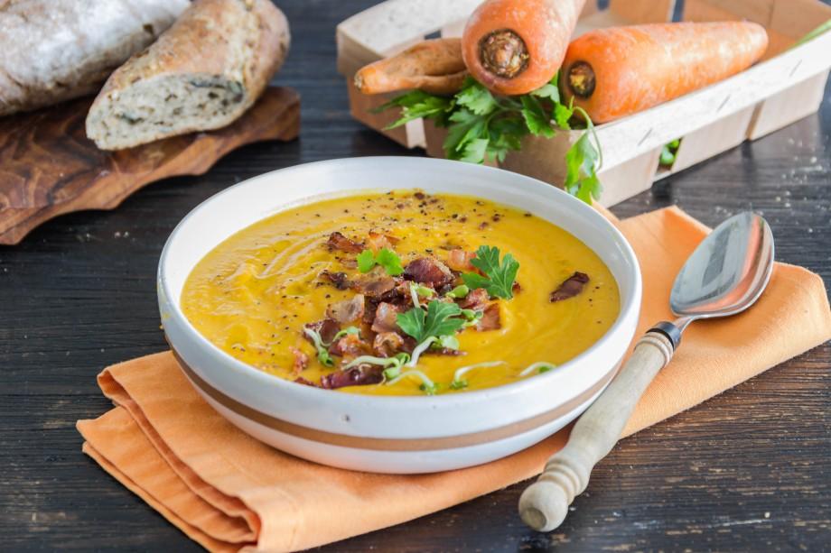 Суп из тыквы и бекона