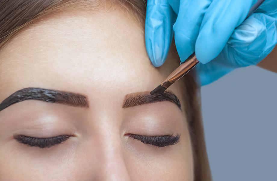 Как правильно красить брови хной