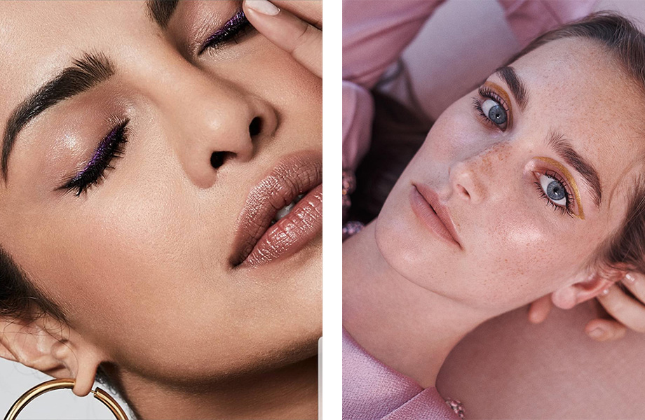 Вечерний макияж с сияющей подводкой