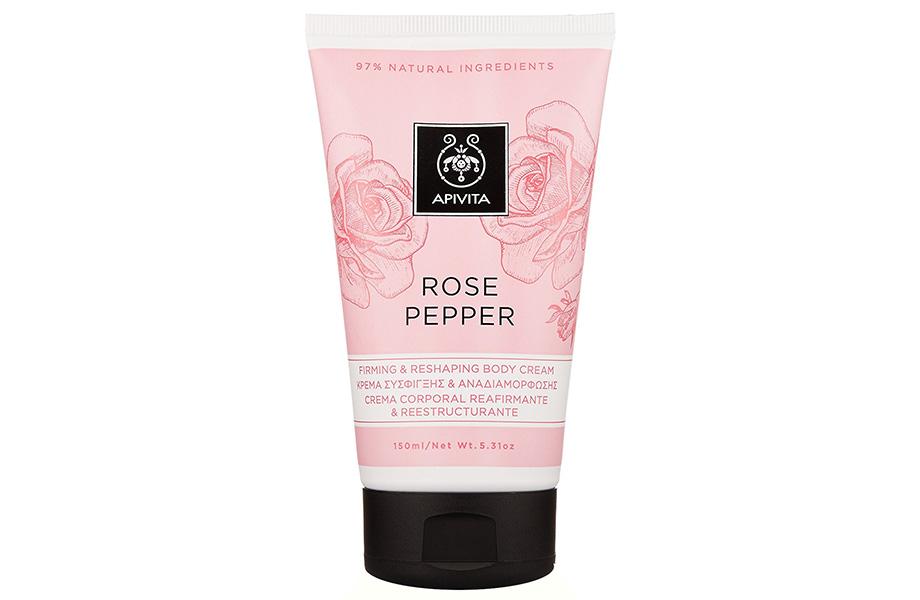 Apivita, Rose Pepper Firming & Reshaping Body Cream
