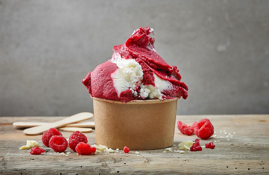 Мороженое из йогурта и ягод