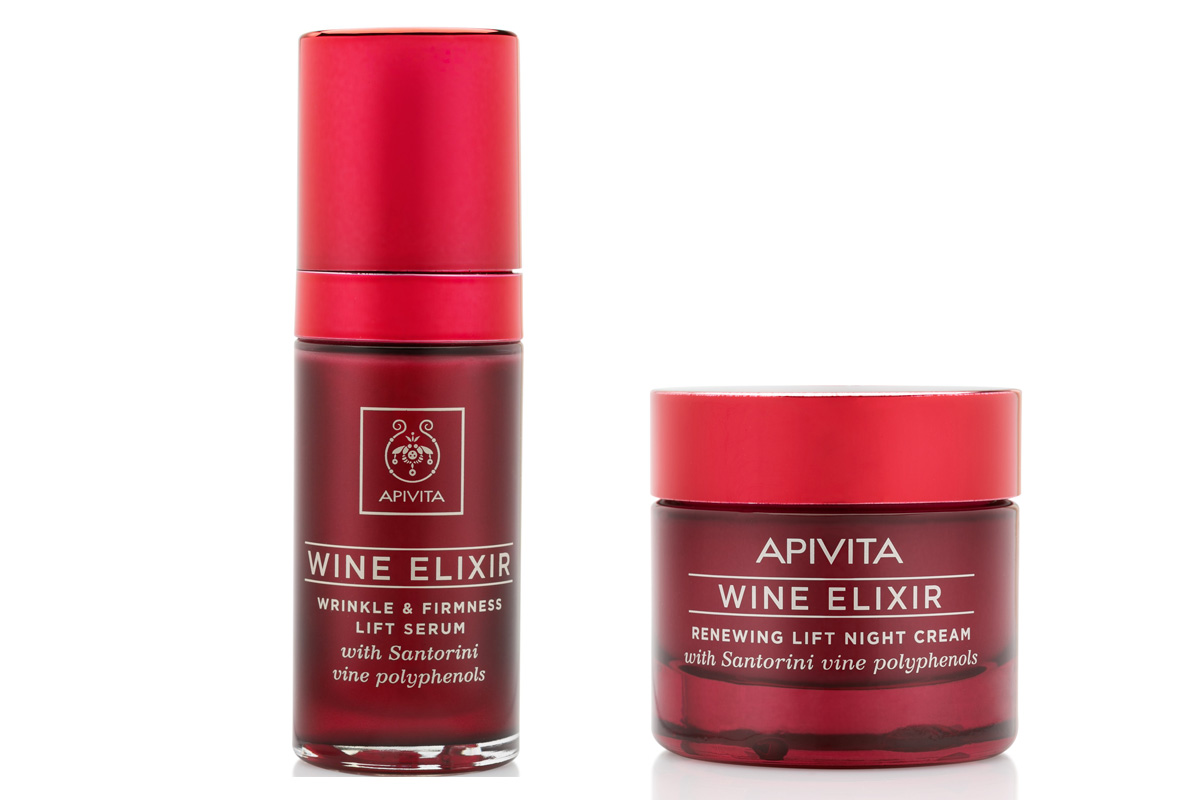 Apivita, Wine Elixir Wrinkle & Firmness Lift Serum and Night Cream