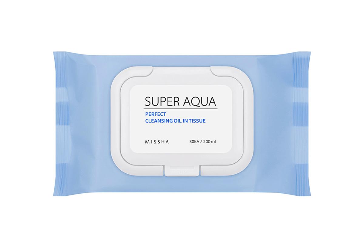 Missha Super Aqua Perfect Cleansing Oil In Tissue