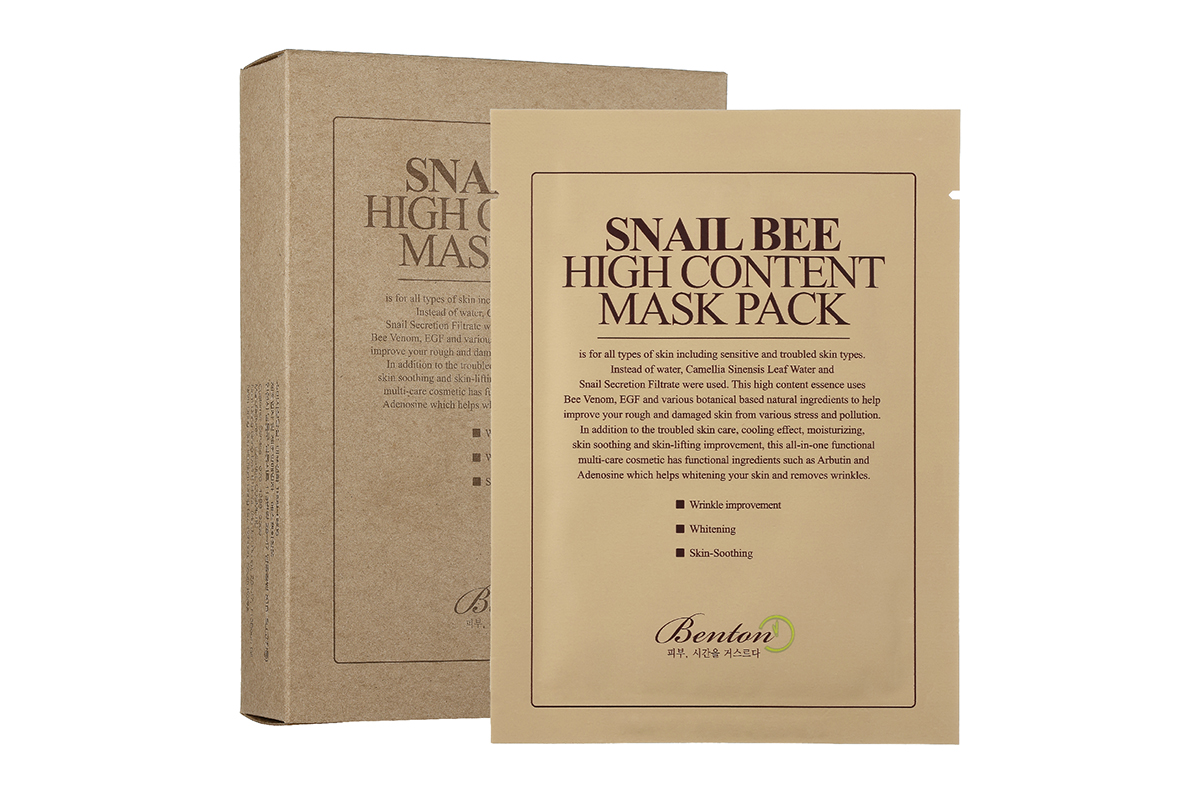 Benton, Snail Bee High Content Mask Pack