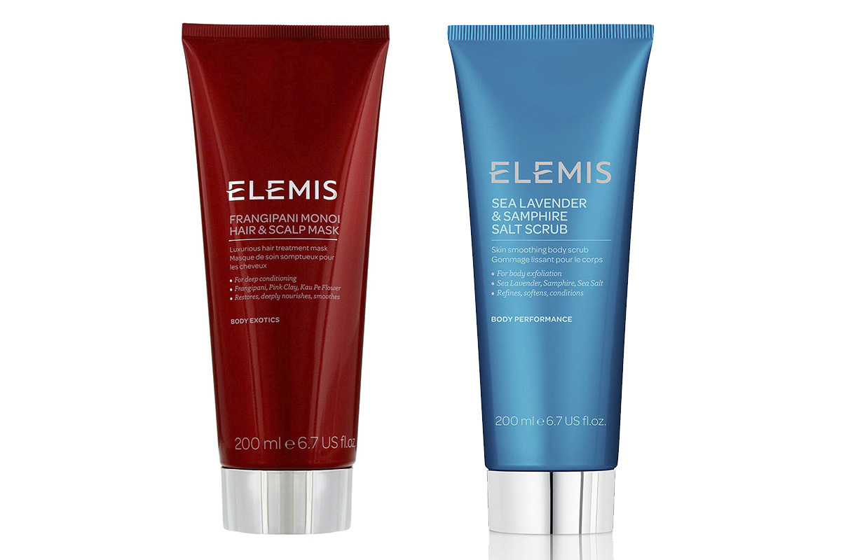 Elemis, Frangipani Monoi Hair & Scalp Mask; Sea Lavander & Samphire Salt Scrub