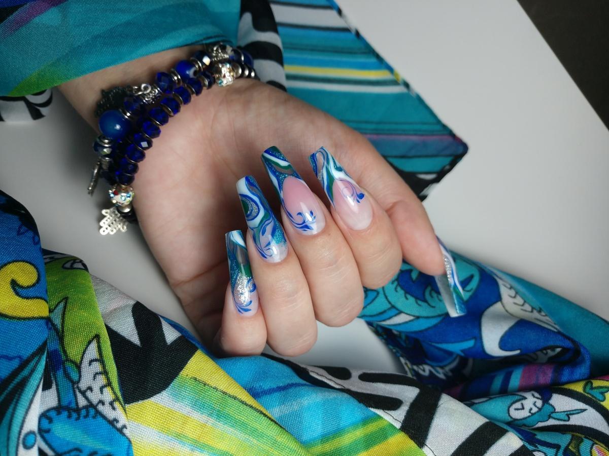 Летний морской дизайн ногтей: пошаговый мастер-класс с фото