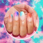 tie-dye ногти