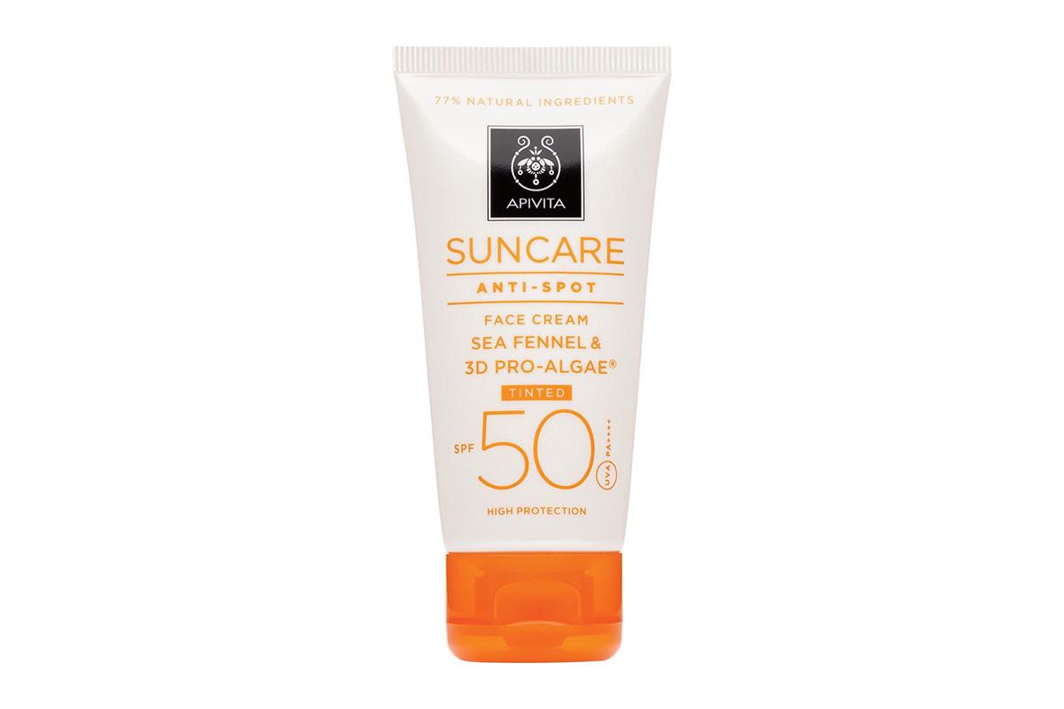 Apivita Suncare Anti Spot Tinted Face Cream SPF50