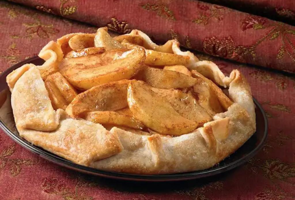 рецепт открытого яблочного пирога