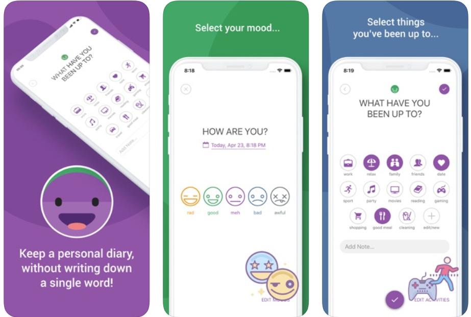 приложение для борьбы со стрессом Daylio