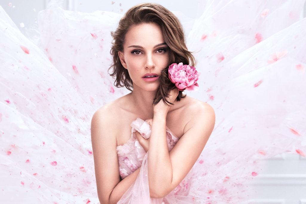 Натали Портман в рекламе нового аромата Miss Dior n'Roses