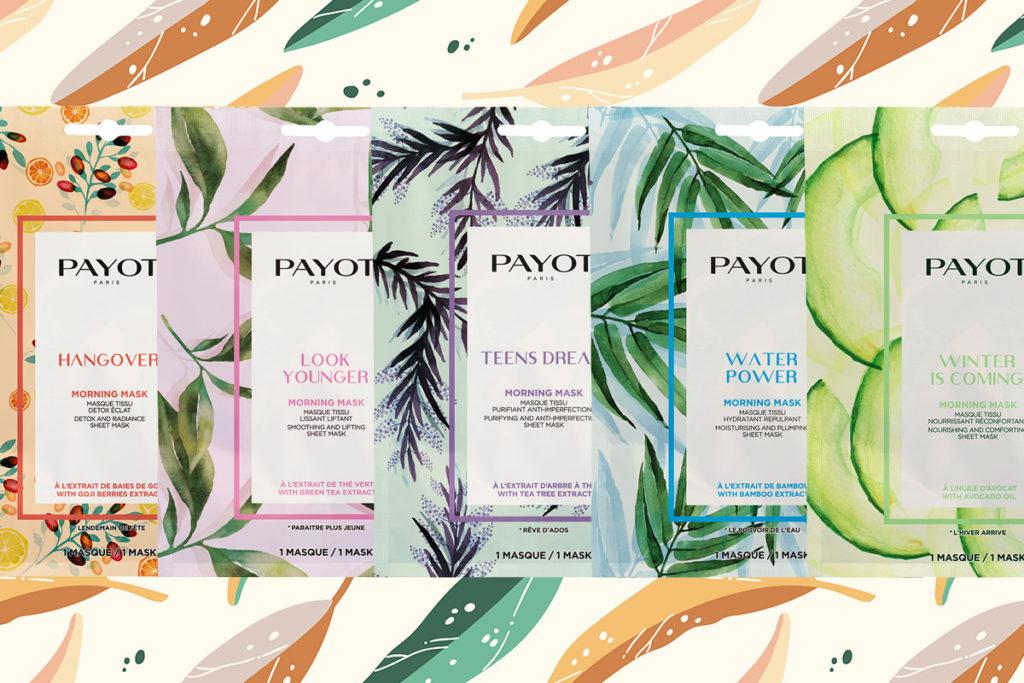 Доброе утро: коллекция тканевых масок для лица Payot