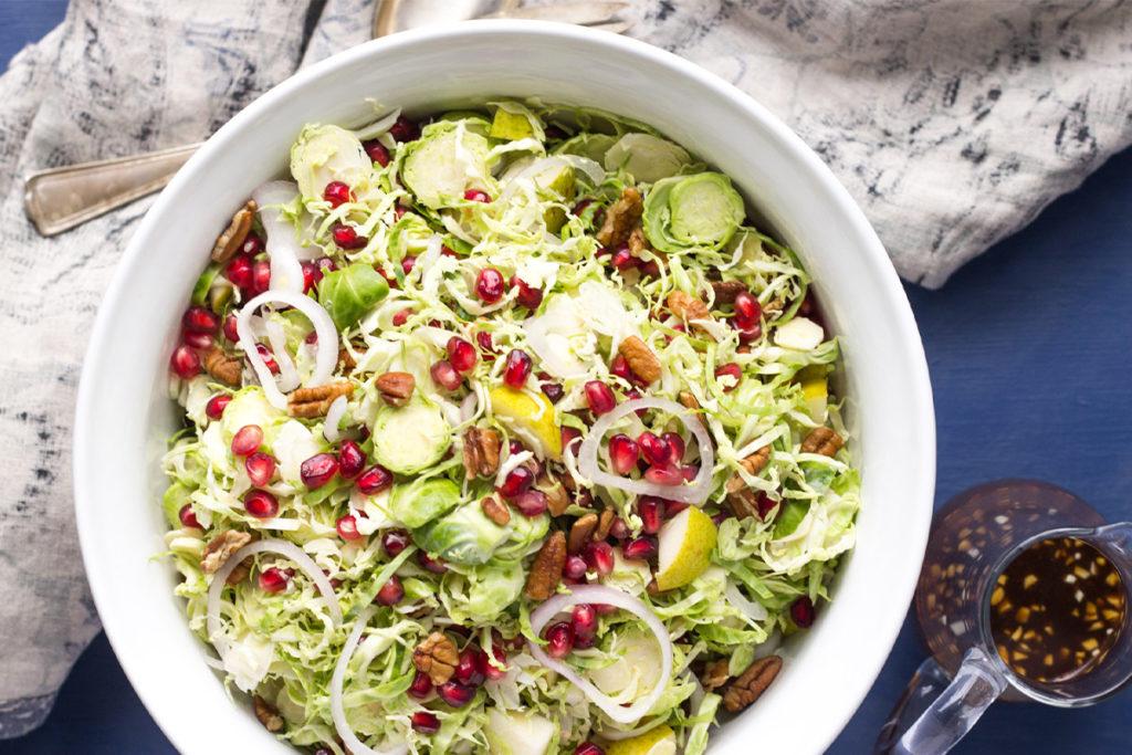 рецепт салатов с брюссельской капустой