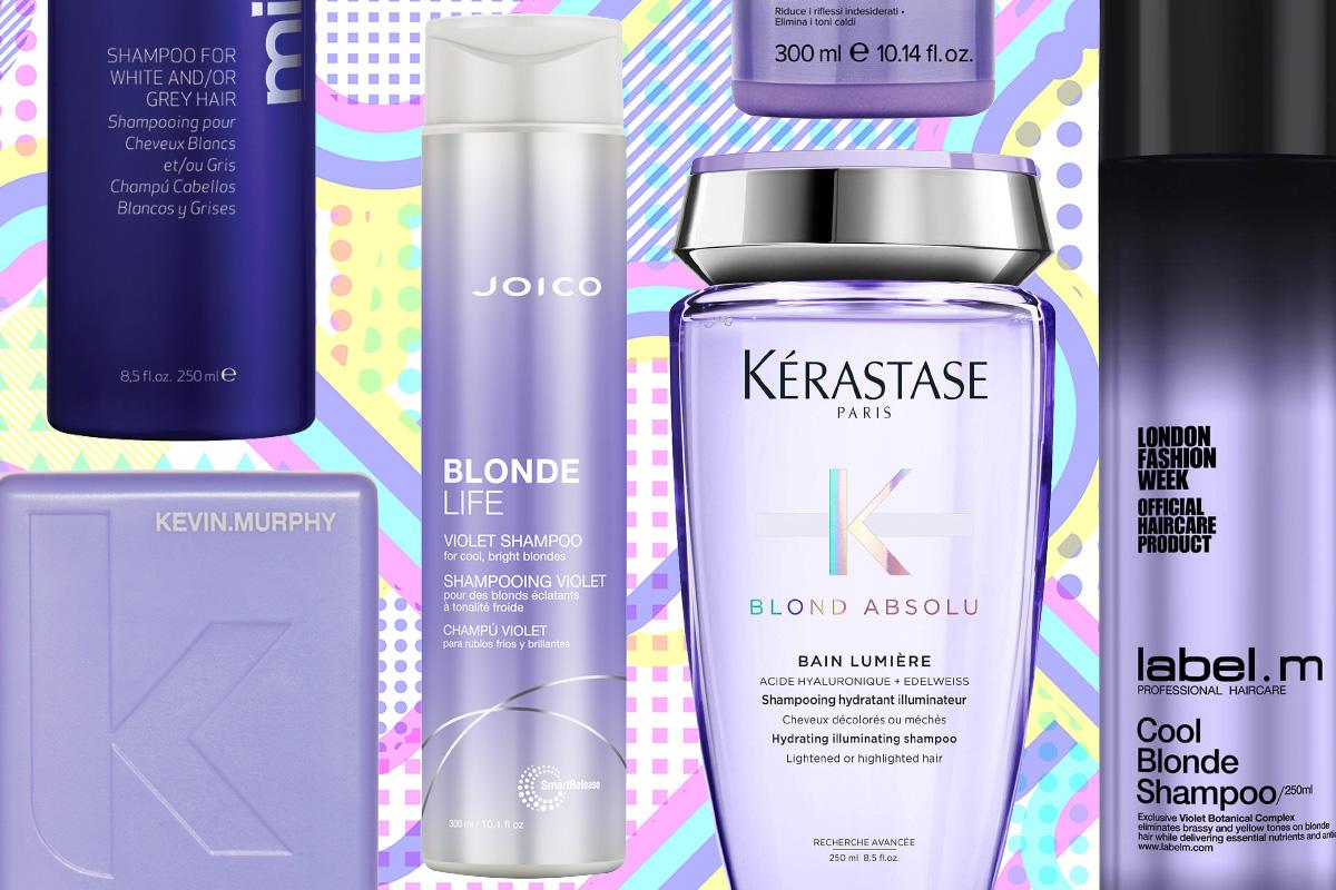 Фиолетовые шампуни для блондинок