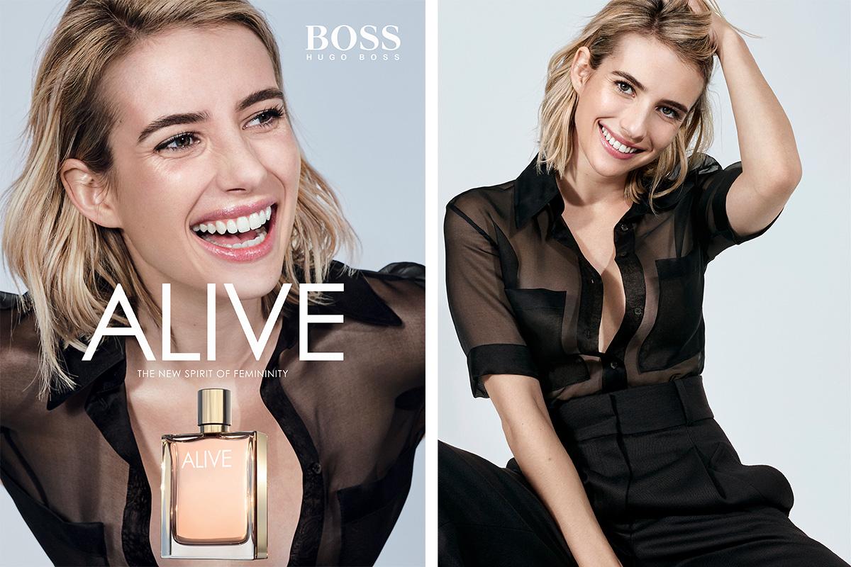 Эмма Робертс - новое лицо аромата Boss Alive