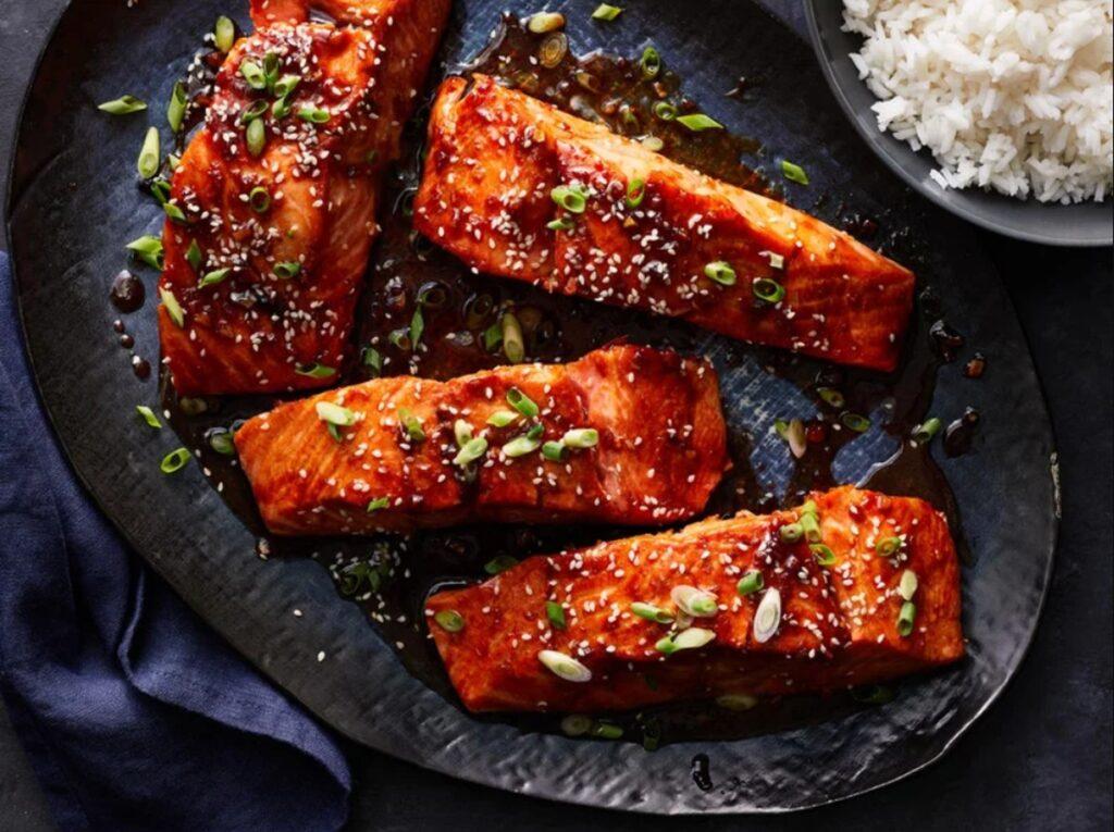 рецепт стейка лосося с бурбоном