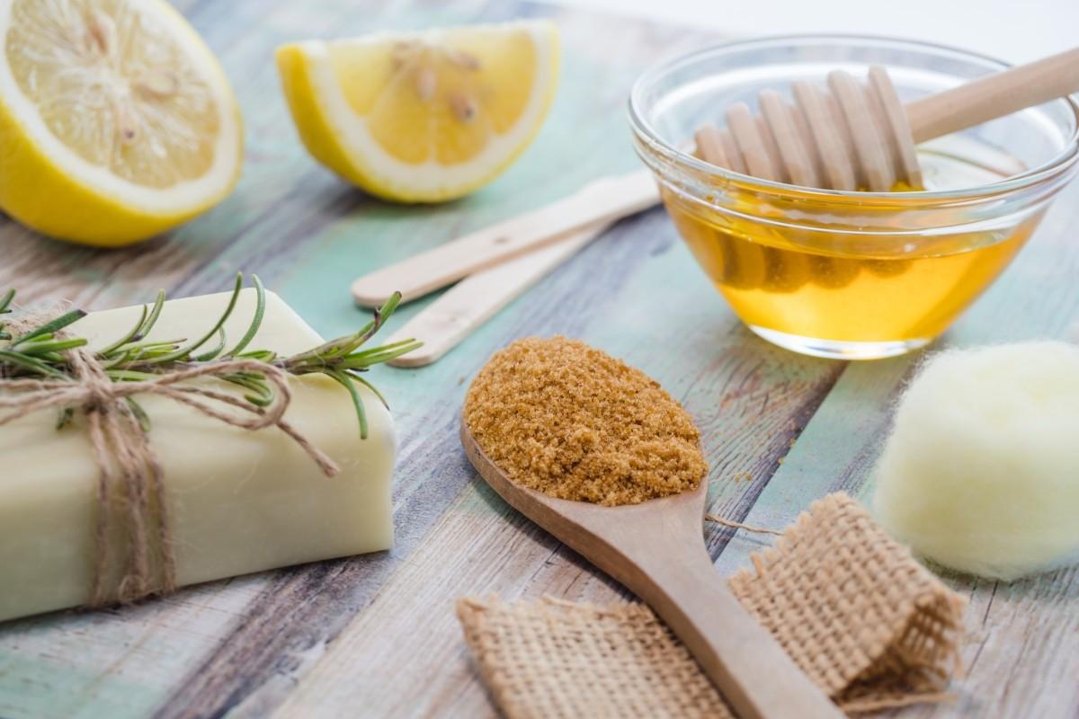 Лимоный скраб для кожи головы