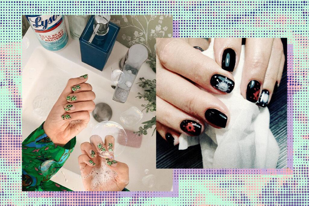 Коронавирус на ногтях: странные идеи маникюра из Сети