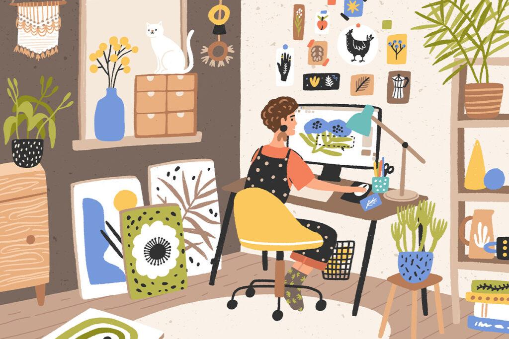 Здоровый домашний офис: как правильно сидеть или стоять за столом