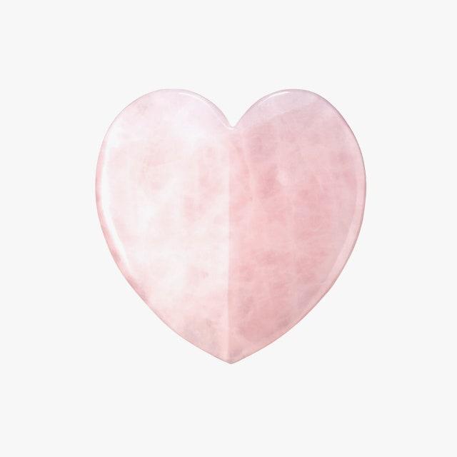 Скребок гуаша из розового кварца в форме сердца Kora Organics Rose Quartz Heart Facial Gua Sha