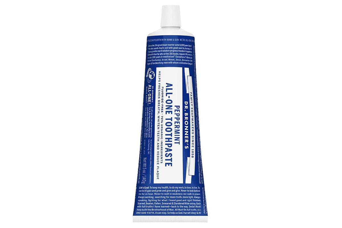 Натуральная зубная паста Dr. Bronner's, Peppermint All-One Toothpaste