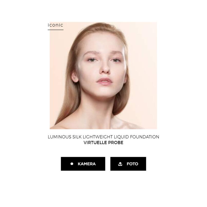 Примерка макияжа от GiorgioArmaniBeauty