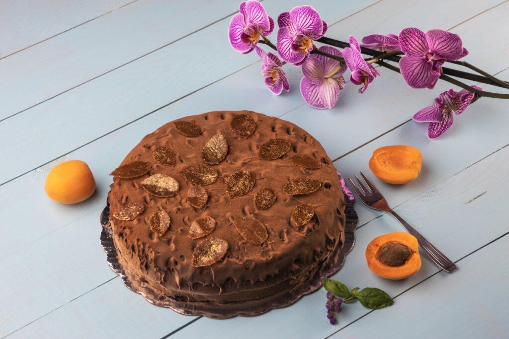 рецепт шоколадного пирога с абрикосами