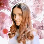 окрашивание волос Rose Gold