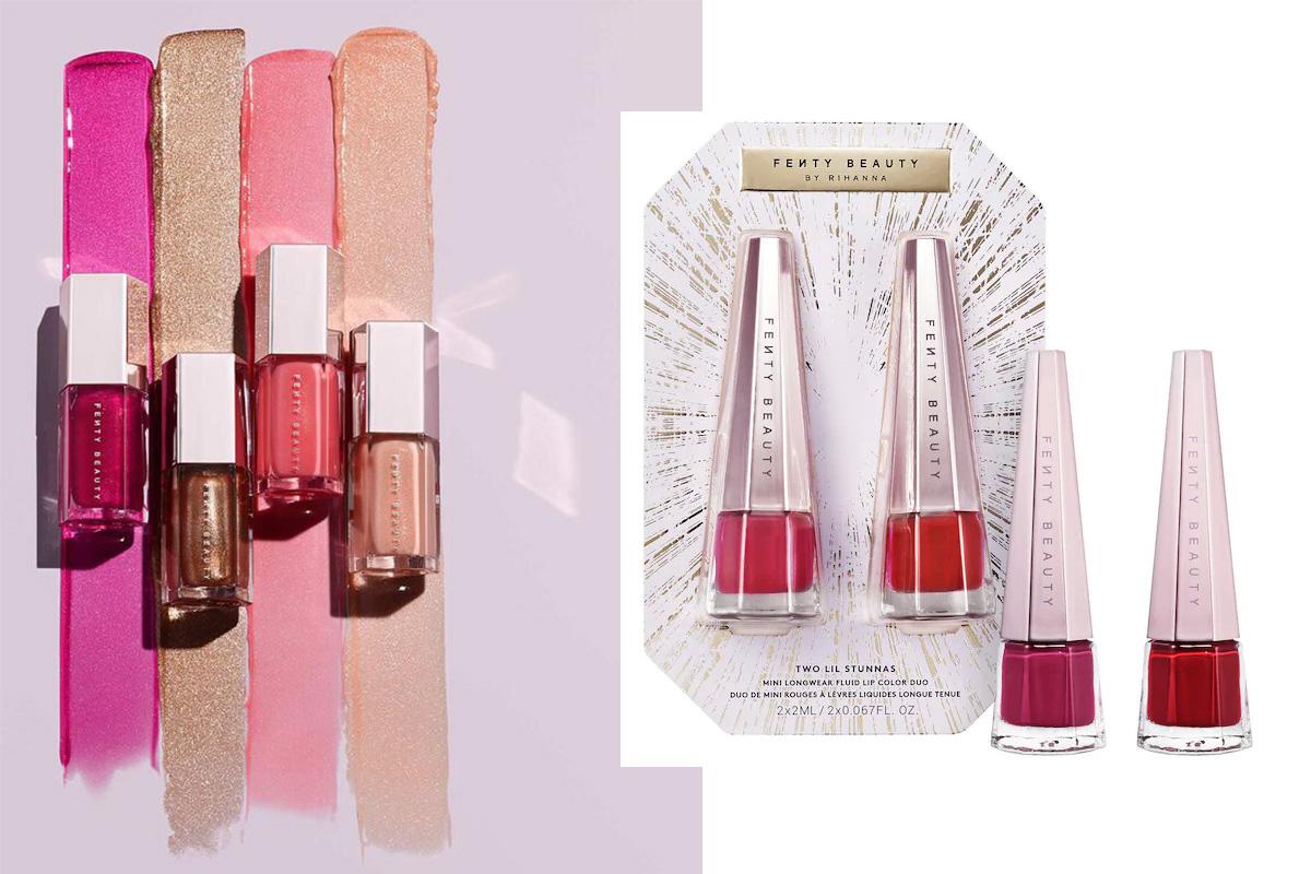 Набор жидких матовых губных помад в мини-размере Fenty Beauty Mini Longwear Fluid Lip Color DuoHoliday 2020