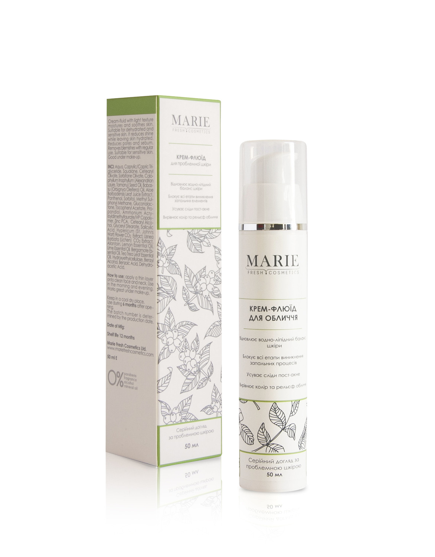Marie Fresh Cosmetics, крем-флюїд для обличчя