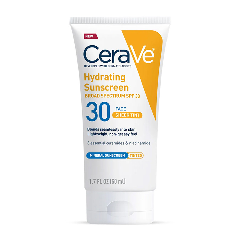 CeraVe, Hydrating Sunscreen SPF 30 Face Sheer Tint