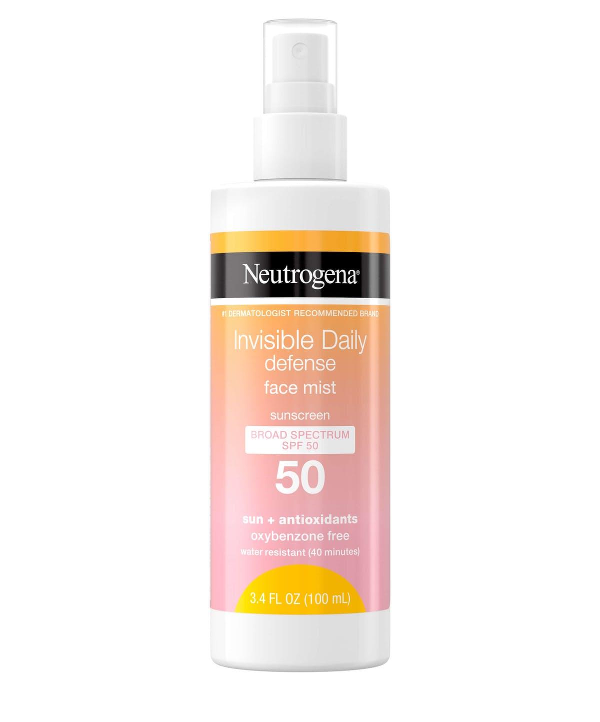 Neutrogena, Invisible Daily Defense Face Mist SPF 50
