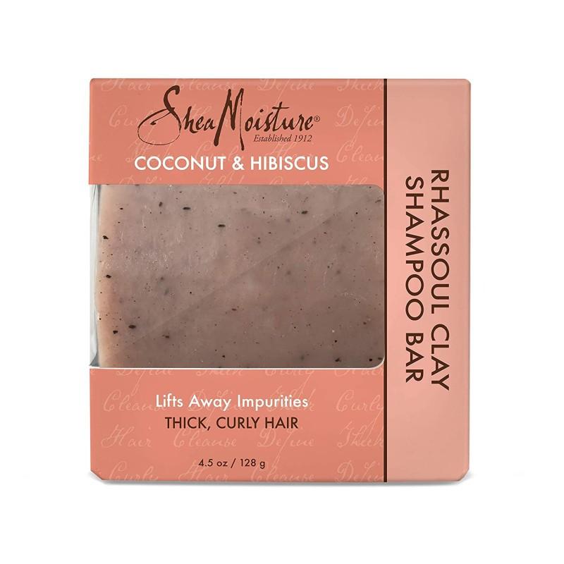 Shea Moisture, Coconut & Hibiscus Rhassoul Clay Shampoo Bar