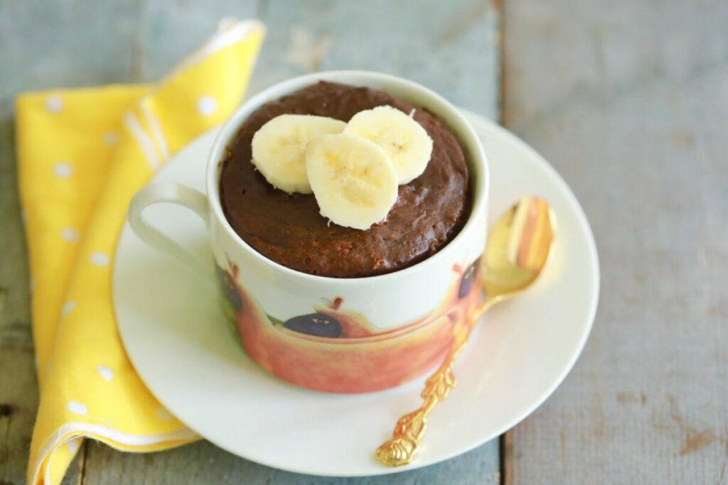 Шоколадный магкейк с бананом без сахара за 5 минут