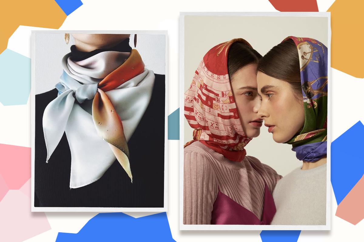Как красиво завязать платок: ТОП-15 интересных вариантов