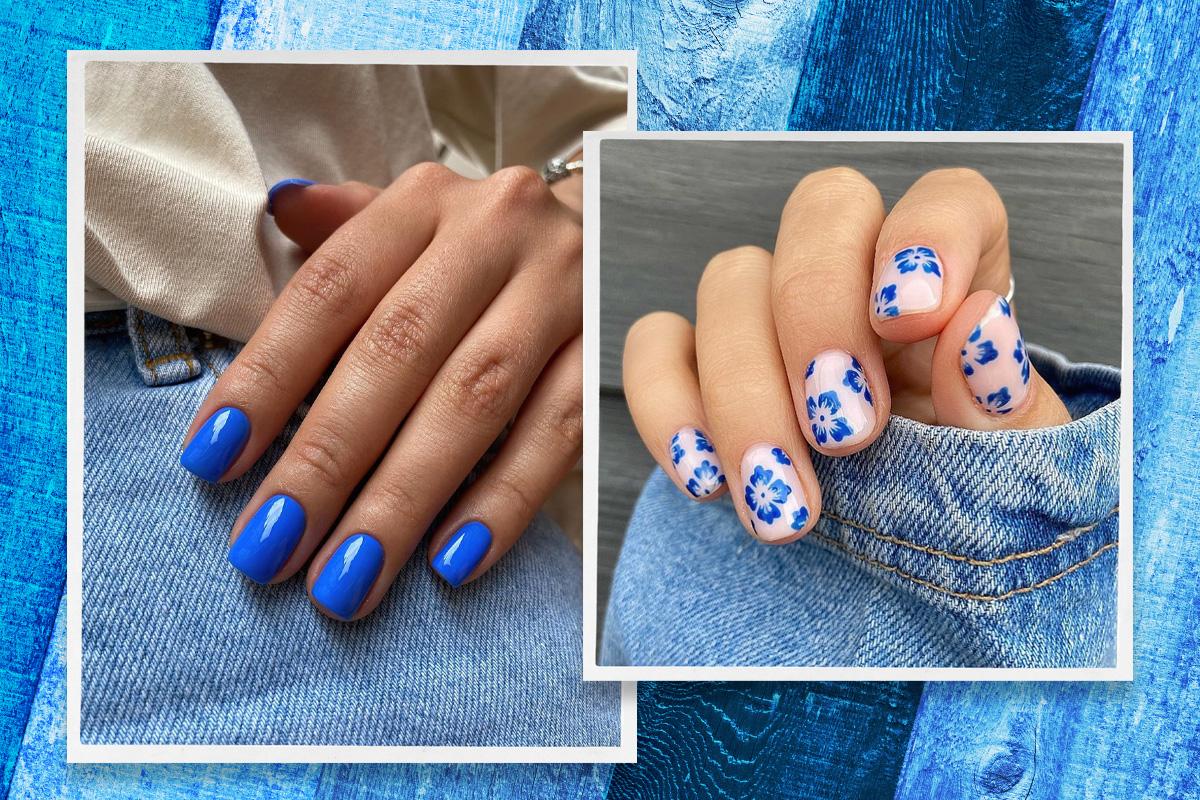 Синий маникюр: как носить самый трендовый оттенок лета на ногтях